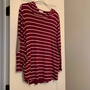 Striped hooded tunic! Boutique - size M